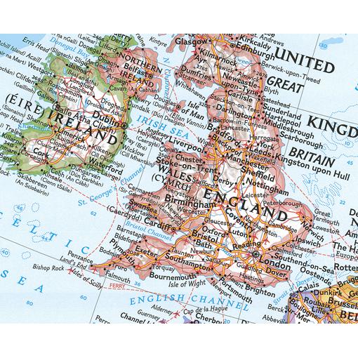 Politická Nástěnná Mapa Evropy Modrá NG5420