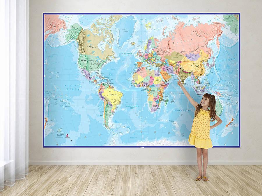 Mapa Sveta Blue Ocean Tapeta Na Zed Nastenne Mapy Cz