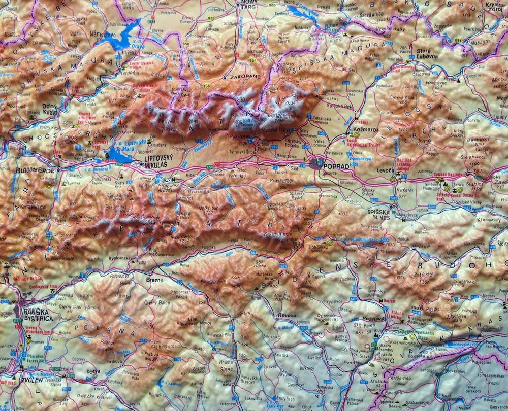 Plasticka Mapa Slovensko Nastenne Mapy Cz