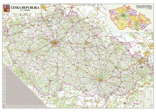 Aktualizovana Silnicni Mapa Cr Nastenne Mapy Cz