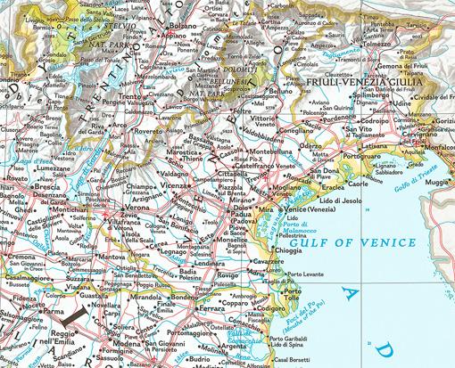 Nastenna Mapa Italie Nastenne Mapy Cz