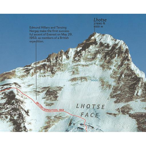 Mapa Mount Everest