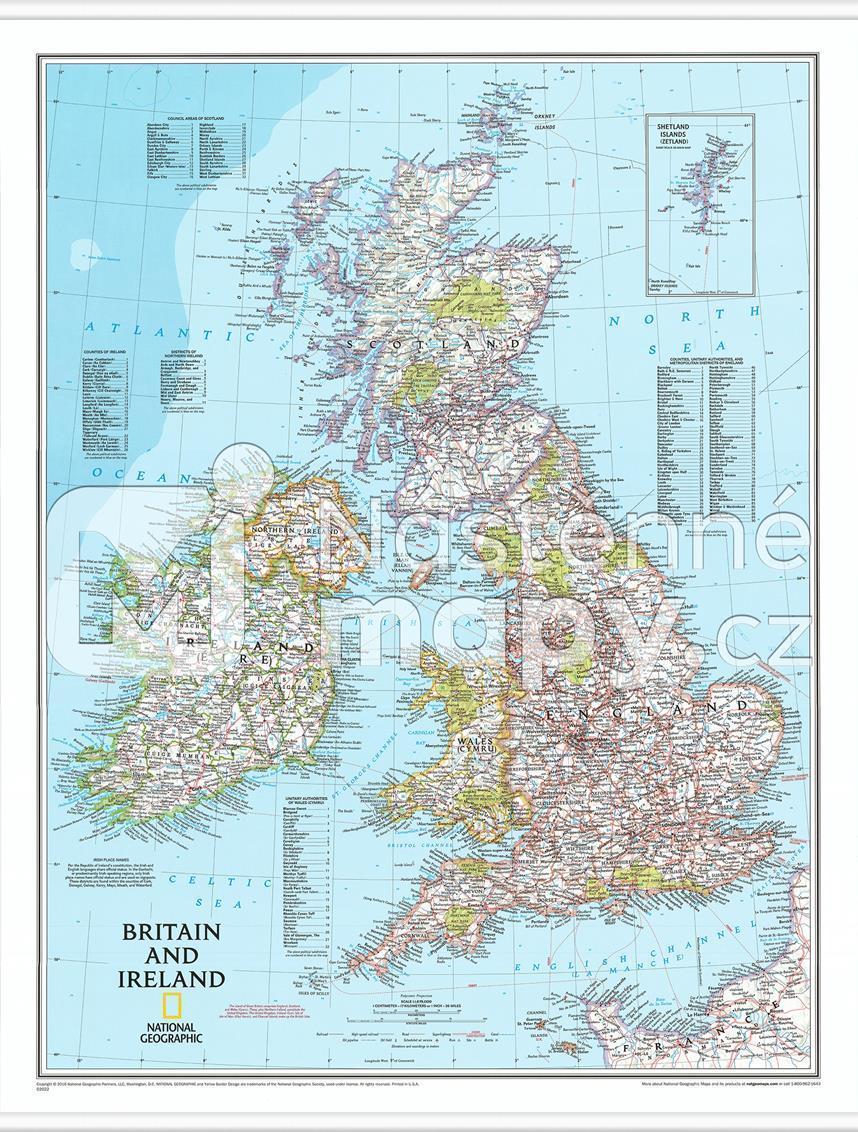 Nastenna Mapa Velke Britanie A Irska Nastenne Mapy Cz